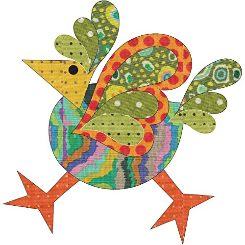 (Quilting Creations Laser Cut Fusible Funky Chicken 1 Large Dotz Applique)