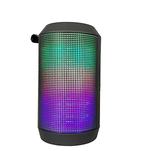 KZY Portable Speaker Bluetooth with Party music and LED visual Light for Outdoor wireless speaker for iPhone 7 6s Plus iPad Samsung Phones Tablets
