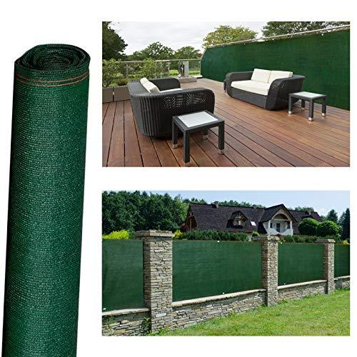 Probache - Brise vue renforcé 1,80 x 10 m vert 220 gr/m² luxe pro
