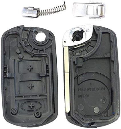 Keyecu Uncut Flip Remote Key Shell Case Fob 3 BTN for Land Rover Range Rover Sport LR3 Just a Key shell