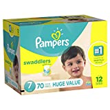 Health & Personal Care : Branded Pampers Swaddlers Diapers, Size 7, 70 Diapers , Weight 41lbs - Branded Diapers with fast delivery (Soft and Comfortable for Babies)