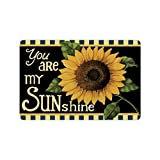 """23.6""""(L) x 15.7""""(W) Sunflower Flower Floral,You Are My Sunshine Fabric Floor Mats Living Room Bedroom Doormat Indoor with Anti-slip Backing"""