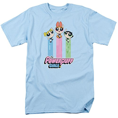 Trevco Powerpuff Girls The Girls Fly Unisex Adult T Shirt for Men and Women ()