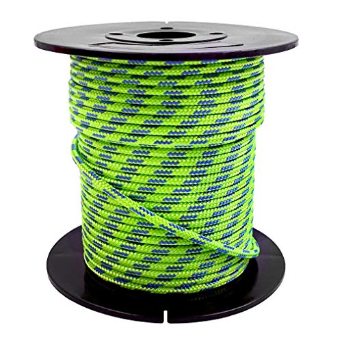 GM CLIMBING Accessory Cord 100feet 3mm (1/8in) Diameter (Green)