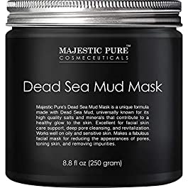 MAJESTIC PURE Dead Sea Mud Mask – Natural Face and Skin Care for Women and Men – Best Black Facial Cleansing Clay for…