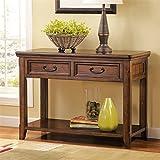 Ashley Furniture Signature Design - Woodboro Sofa Table - Entertainment Console - Rectangular - Dark Brown
