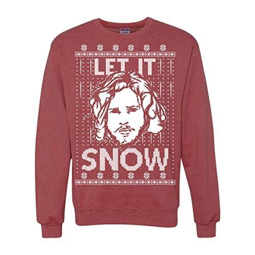 let it snow got jon snow ugly christmas sweater unisex crewneck sweatshirt 30off