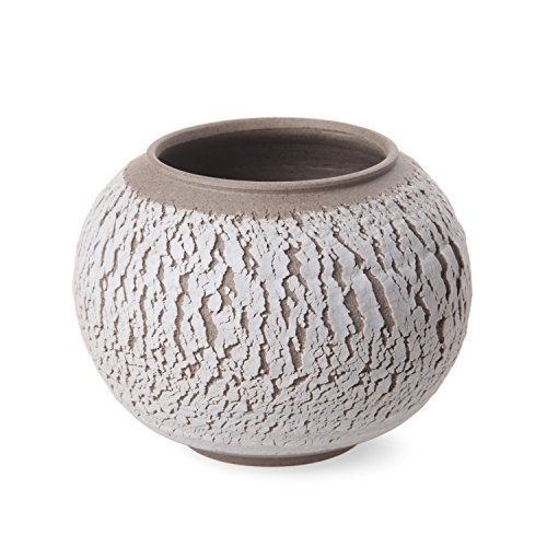[Todos® Crack Surface Bark Bowl, Decorative and Practical Chic Unique Rustic Simple Design Matte Finish Decorative Accessory, 20-Ounce (wide-mouthed)] (Clay Art Stoneware Bowls)