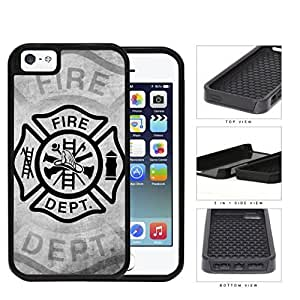 Firefighter Maltese Gray Grunge 2-Piece Dual Layer High Impact Hard shellSilicone Cell Phone Case Case For Sam Sung Galaxy S5 Cover