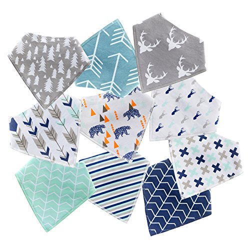 10-Pack Baby Bandana Drool Bibs for Drooling and Teething Boys Girls by MiiYoung by MiiYoung (Image #7)
