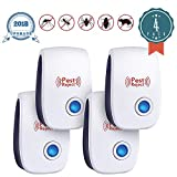 JALL Ultrasonic Pest Plug in, Rat Repellent Warrior Mouse Control, Insect Bed Bugs, Ants, Mice, Mosquito, Roach Killer Fleas, Flies, Spider, Rodent, Cockroach Indoor, No Trap Poison, 4 Pack, White