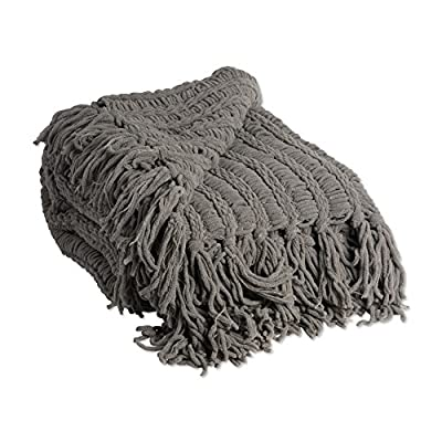 "J&M Home Fashions Luxury Chenille Woven Knitted Throw Blanket with Fringe (50x60"" - Sable), Reversible, Soft, & Warm for Bed, Chair, Couch, Camping, Beach, or Travel - SUPER SOFT & WARM THROW -  Measures 50x60"", made from 100% soft polyester for an extremely plush texture and knitted weave that will keep you warm on a cold night. MACHINE WASHABLE - Machine wash cold separately using delicate cycle and mild detergent. Do not bleach. Tumble dry on low on gentle cycle and remove promptly. Do not iron. VERSATILE, COMFORTABLE, DURABLE: This beautiful blanket can be used on cold nights as an extra cover for your bed, on a couch or accent chair, as a lovely housewarming, birthday, or Christmas gift. - blankets-throws, bedroom-sheets-comforters, bedroom - 51NO dwmxRL. SS400  -"