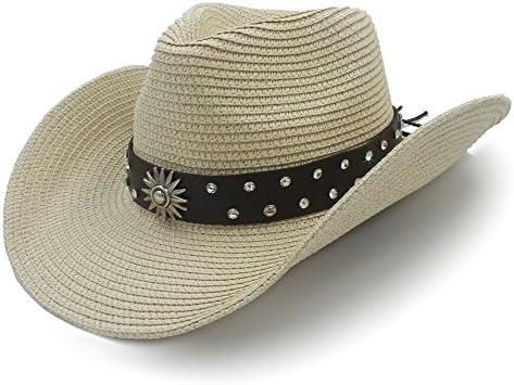 HuiQin Zhang Sombrero de Vaquero de Paja for Hombre, Mujer ...