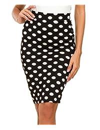 Urban CoCo Women's High Waist Stretch Bodycon Pencil Skirt