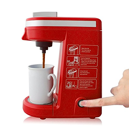 CHULUX Single Serve K-cup Coffee Maker, Red