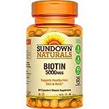 Sundown NaturalsBiotin 5000 mcg, 60 Capsules (Pack of 3)
