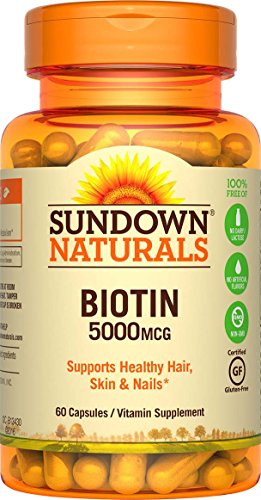 Sundown NaturalsBiotin 5000 mcg, 60 Capsules (Pack of 3)