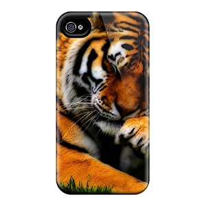 Awesome Tiger Flip Case With Fashion Design For Iphone 4/4s