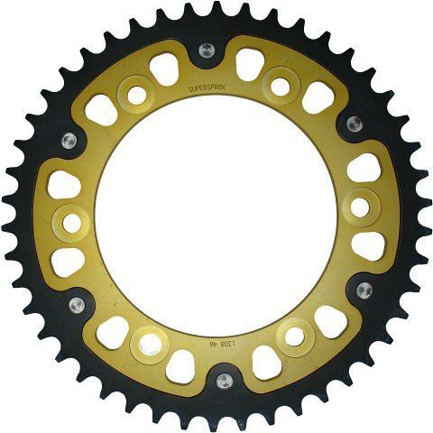Supersprox Stealth Gold 520 47 Tooth Rear Sprocket for Kawasaki KX 125 250 450 F 500 KLX (Kawasaki 450 F compare prices)