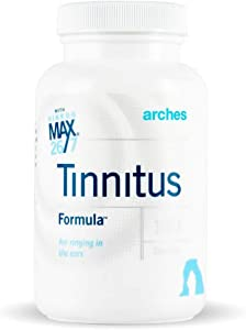 Arches Tinnitus Formula - Now with Ginkgo Max 26/7 - Natural Tinnitus Treatment for Relief from Ringing Ears - 100 Count Bottle - 25 Day Supply