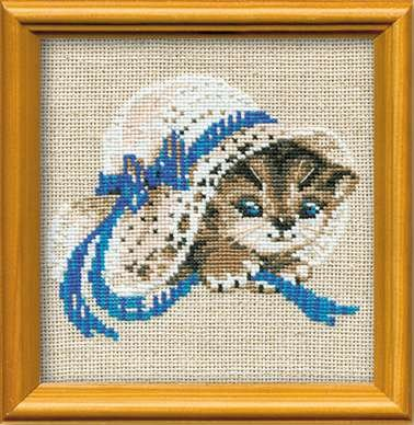 RIOLIS 748 - Kitten in the hat - Counted Cross Stitch Kit - 6