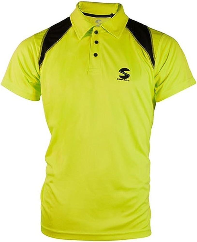 Softee - Polo Padel Reflex Color Amarillo Fluor/Negro Talla S: Amazon.es: Ropa y accesorios