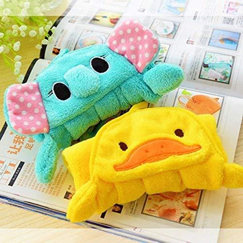 Zehui Cute Cartoon Animal Hand Towel, Super Soft Coral Velvet High Absorbency Kitchen Bathroom Hanging Wipe Towels Yellow duck