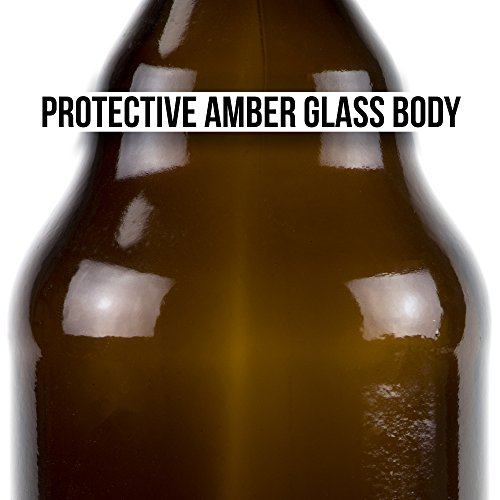 33 oz. Grolsch Glass Beer Bottles, Quart Size – Airtight Swing Top Seal Storage for Home Brewing of Alcohol, Kombucha Tea, Homemade Soda by Cocktailor (12-pack) by Cocktailor (Image #4)