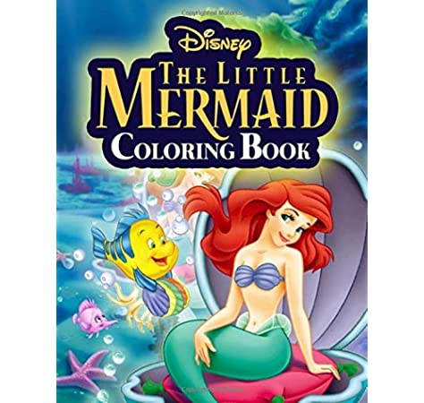 - The Little Mermaid Coloring Book: Jumbo Coloring Book For Kids Boys Girls  Ages 4-8: Anderson, John: 9798622104886: Amazon.com: Books