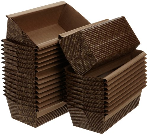 Kitchen Supply 6 x 2.5 x 2 Inch Paper Loaf Pan, Set of 25 (Oven Baking Paper compare prices)