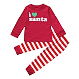 HOT!!2-7 Years Old Toddler Kids Christmas Deer Tops Stripe Pants,Baby Girls Boys Outfit Clothes Set...