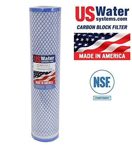US Water 4.5 x 20 Carbon Block Filter   USWCB-4520-10