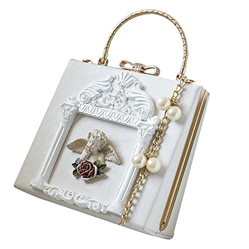 Baroque Angel Crossbody Shoulder Bag Pearl Chain Bag For Women ()