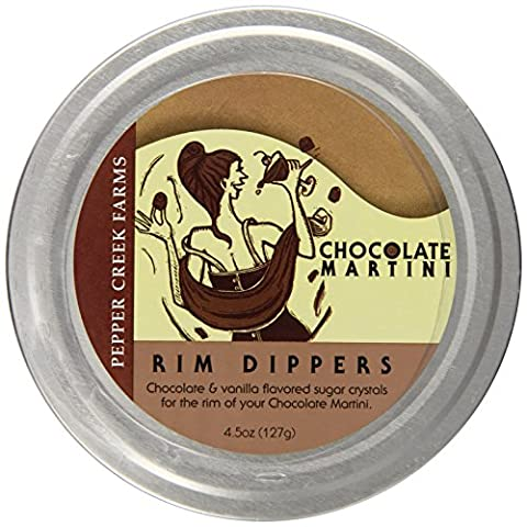 Pepper Creek Farms Martini Rim Dipper, Chocolate, 4.5 Ounce - Creek Cocktail