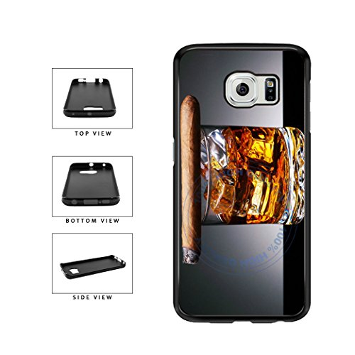 Price comparison product image BleuReign(TM) Cigar On Top Of Cognac TPU RUBBER SILICONE Phone Case Back Cover For Samsung Galaxy S7 Edge