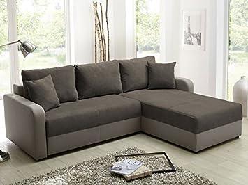 Expendio Ecksofa Malaga 238x182cm Braun Elefant Schlafsofa Couch