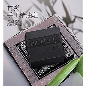 BIOAQUA Bamboo Charcoal Essential Oil Facial Clean Soap Acne Treatment To Blackhead Oil Control Shrink Pores Free Shipping.