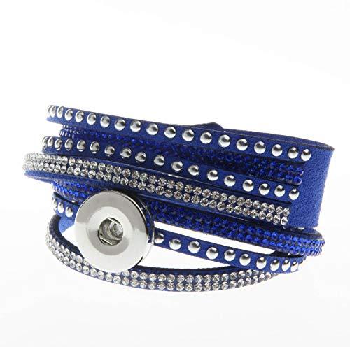 (2018NEW Fashion 1pcs Charm bracelet For Noosa snaps chunk button NS 43)