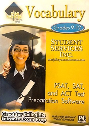 Vocbulary — PSAT, SAT, and ACT Test Preparation Software Grades 9-12