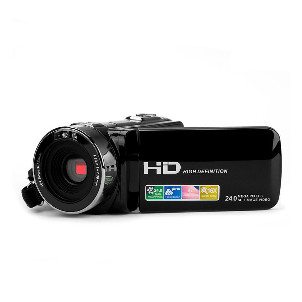 zeshllaデジタルビデオビデオカメラ、リモートコントロールデジタルカメラ、ポータブルレコーダーIRナイトビジョンフルHD 1080p最大、3.0インチLCD、テレビoutputand HDMI出力 B0791GNBFJ