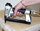 Surebonder Pneumatic 22G Narrow Crown Upholstery Staple Gun with Blow Molded Carrying Case (Air Compressor Needed - Not Included)
