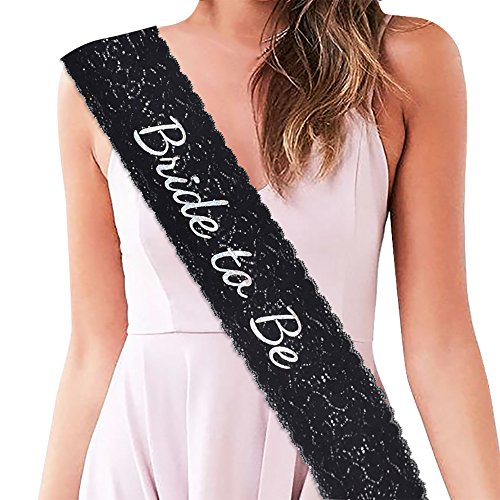 Bride To Be Lace Sash for Hen Party Bridal Shower-Bachelorette Sash, Wedding Party Favors Accessories Decorations