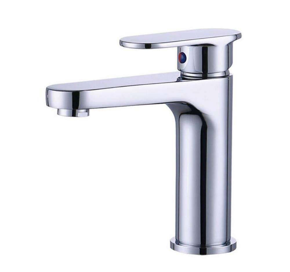 All Copper Faucet Taps Copper Chrome Thickening Hot and Cold Basin Faucet Bathroom Toilet Water Saving Single Basin Faucet