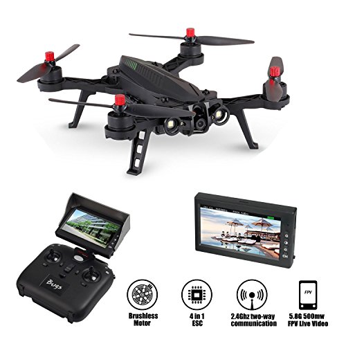 Mosquito Mini Rc Indoor Helicopter (MJX Bugs 6 250mm RC Brushless Racing Quadcopter RTF with 720P HD Camera and FPV Monitor)