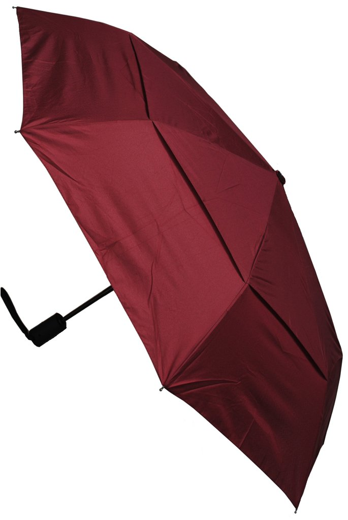 COLLAR AND CUFFS LONDON - Windproof - COMPACT YET STRONG - Reinforced Frame With Fiberglass - StormProtector Small Folding Umbrella - Vented Double Layer Canopy - Auto Open Close Burgundy Red CCLSTORMPUMB10211