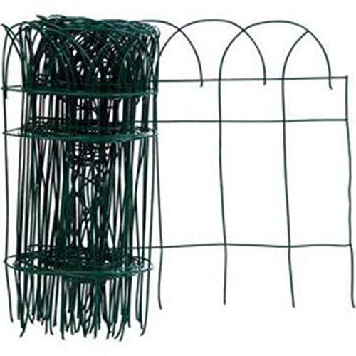 (MTB Green Garden Border Edging Folding Fence Roll 14