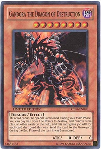 -  Super Rare Limited ed CT07-EN020 Yugioh Gandora the Dragon of Destruction