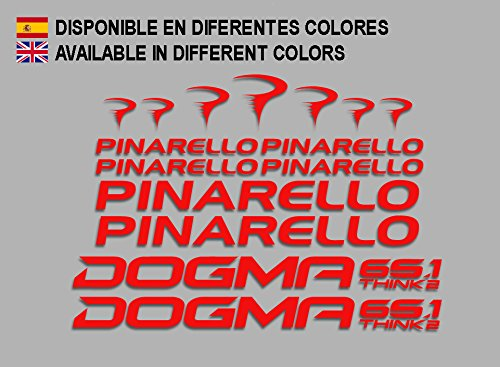 Ecoshirt SV-RM60-3YSW Pegatinas Pinerello Dogma F166 Vinilo Adesivi Decal Aufkleber Клей MTB Stickers Bike Rojo