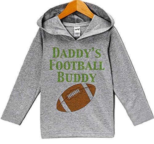 Brown Custom Hooded Sweatshirt (Custom Party Shop Baby Boy's Novelty Football Hoodie Pullover 18 Months Grey and Brown)