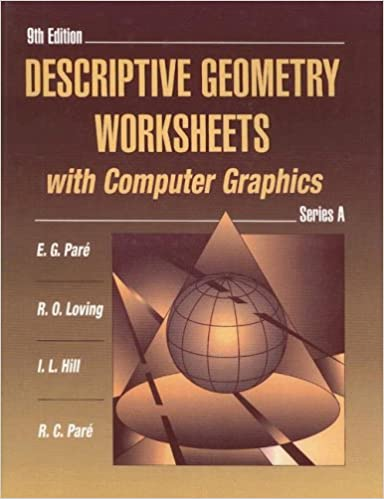 Amazon.com: Descriptive Geometry Worksheets with Computer Graphics ...